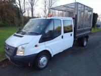 WHITE FORD TRANSIT FLAT BED TIPPER 2.2 350 DRW ***FROM £262 PER MONTH***