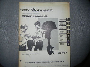 1971 Johnson 4 HP Outboard Service Manual 4R71 4W71