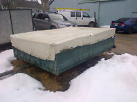 old tent trailer