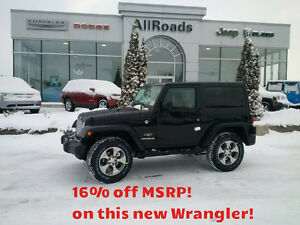 New 2016 Jeep Wrangler Sahara 2dr 4x4 only $33632!