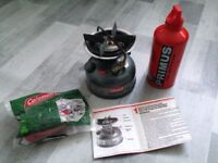 Fishing / camping stove coleman (as new)