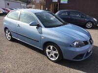 5606 Seat Ibiza 1.4 16v Special Edition DAB Blue 3 Door 47487mls MOT 12m