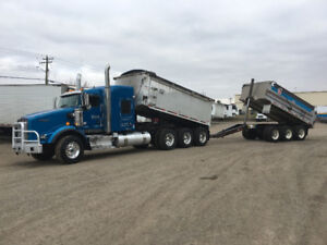 GRAVEL TRUCK TRI-DRIVE WITH TRI-AXLE PUP