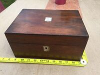 Inlaid antique walnut jewellery box