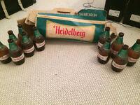 case of heidelberg beer bottles