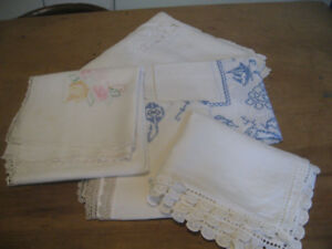 Vintage Linens, Crochet and Doilies