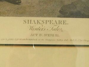Large Antique Shakespeare Winters Tale Etching Print Cambridge Kitchener Area image 3