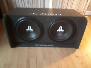 2 12in JL audio subs in a JL Audio slot-ported basswedge box