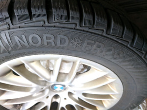 16 inch GiSlaved Nord Frost Winter Tires on BMW Rims
