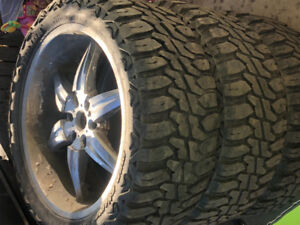 22 inch 6 bolt tires and rims