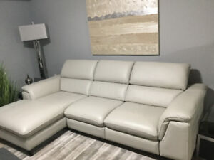 Leather Motion Sectional with Chaise