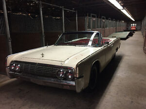 1963 Lincoln Continental convertible w/ suicide doors BARN FIND
