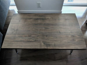 Design Republic Coffee Table - Like New! Real Maple Wood-$350