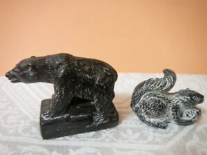 Native Inuit soapstone carvings figurines 2