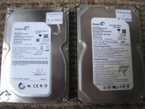 250GB Sata hard drive's