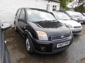 2007 FORD FUSION ZETEC 1.4 PETROL MANUAL 5 DOOR HATCHBACK IN BLACK