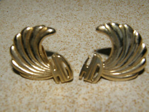 Harley Davidson Clipon Earrings