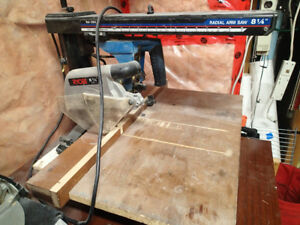 "I have an 8 1/4"" Ryobi radial arm saw for sale"