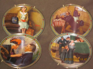 FS: Set of 8 Collector Plates, Norman Rockwell American Dream