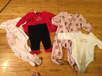 Large Lot Baby Girl Clothes size 3 - 12 months