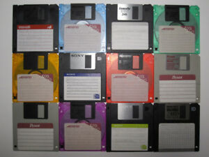 "FOR SALE: USED FLOPPY DISKS 3.5"" HD 1.44MB DOS-FORMATTED"