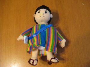 BIBLE STORY DOLL WITH BOOK AS BACKPACK