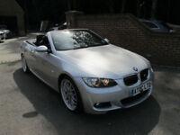 2008 (08) BMW 335i M SPORT AUTO CONVERTIBLE + FULL BLACK LEATHER