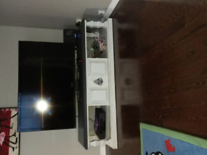 Large Solid Wood Coffee Table or TV Stand