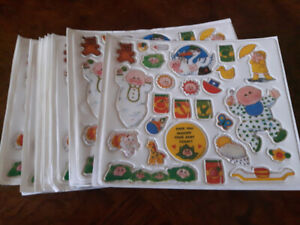 24 sheets of Cabbage Patch Stickers 1983