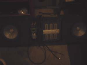 Subs amp campasator and box under seat chevy