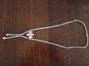 Antique square linked Rhinestone necklace