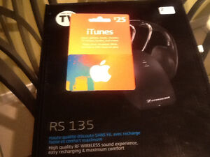 Brand new Sennheiser Rs 135 wireless headphones and $25 iTunes