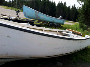 Skiff and trailer