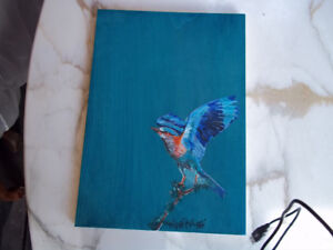 Birds of Thailand hand painted wood panels