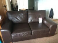 M&S leather sofa 2 seater and 3 seater