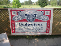 6 Foot Corrugated Paper Budweiser Sign