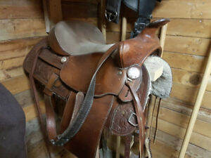 Great condition western rawhide saddle