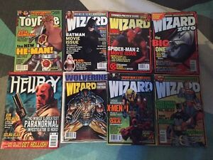 Lot of Vintage Wizard Magazines