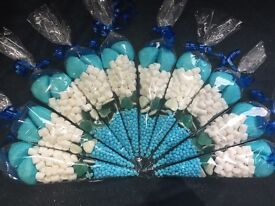 Blue/Boys Pre Filled Sweet Cones Kids Party Bags Party Favour, Birthday Gift, wedding favours