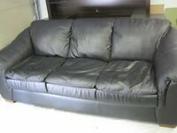 LEATHER COUCH & LOVESEAT