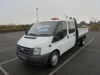 2010 60 FORD TRANSIT 2.4TDCi 115PS 350 LWB DOUBLE CAB PICK UP TRUCK 6 SEATER