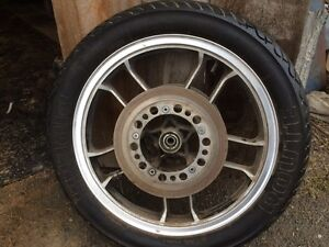 73 Honda shadow front wheel etc.