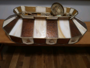 Nautical Theme Stained Glass Pool Table/Bar Light