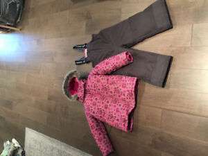 Girl snow and ski suit size 4