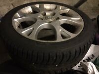 """Honda Accord Civic FRV 17"""" Alloy Wheel With good Tyre Spare"""