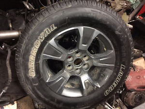 COLORADO or CANYON 255/65/17 RIMS with/without UNIROYAL TIRES