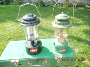 Coleman Gas Lantern $60 and Coleman Battery Powered Lantern $30