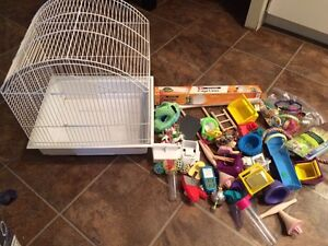 Bird cage and tonnes of accessories