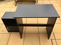 Black Office Desk and Cabinet