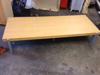 Glass Wooden Table In good condition House Clearance Furniture Bedroom Draws
